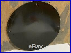 12in TEXACO MARINE Motor Oil GASOLINE PORCELAIN ENAMEL SIGN OIL GAS PUMP PLATE
