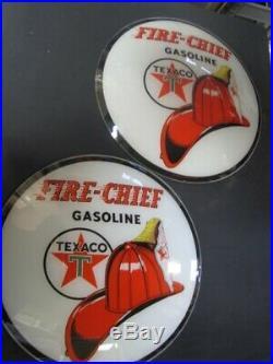 15 Texaco Fire Chief Gas Pump Globe Lenses