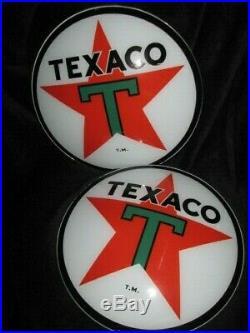 15 Texaco Gas Pump Globe Lenses