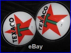 15 Texaco Star Gas Pump Globe Lenses
