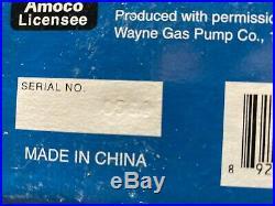1920 Amoco Premium, Silver, Regular Set of Wayne Gas Pump Mechanical Coin Bank