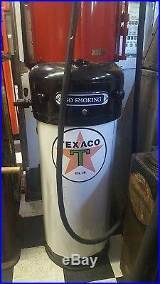 1920's Texaco G & B Curb Gas Pump Restored Excellent Condition with Porcelain Sign