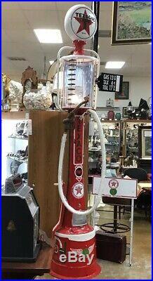 1920s Fry Visible F-R 007 Texaco Gasoline Gas Pump Original Restored Perfectly