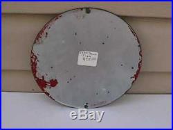 1930 Texaco gas & oil porcelain pump sign 8 diameter EXC condition REG. T. M