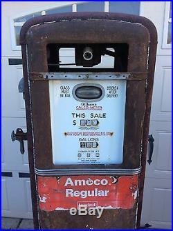 1930's GILBARCO 96C Gas Pump AMOCO ESSO MOBIL TEXACO SHELL GULF SINCLAIR