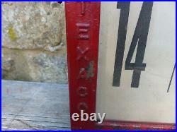 1930's Texaco Martin & Schwartz Visible Gas Pump Price Display Advertising Sign