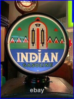 1930s TEXACO INDIAN GASOLINE Gilbarco Gas Pump Rustoration