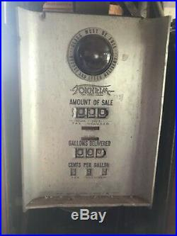 1938 Tokheim 39 tall vintage gas pump with Texaco Porcelain Sign four ad-glass
