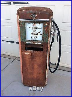 1940's GILBARCO Gas Pump ESSO CHEVRON TEXACO GULF SINCLAIR