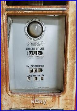 1940's Tokheim Model 39 Tall Computing Gas Pump Texaco Fire Chief Gasoline