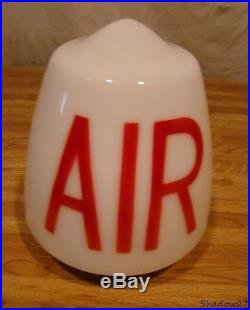 1940s AIR METER LIGHTED GLOBE GAS PUMP SIGN TEXACO COMPRESSOR SERVICE STATION 50