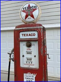 1940s Tokheim Texaco Fire Chief Gas Pump Rustoration
