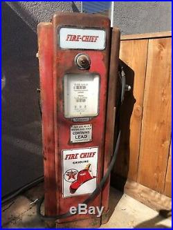 1940s Wayne 70 gas pump, Texaco, Fire Chief, Sinclair, Flying A