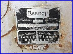 1950's BENNETT 1066 Gas Pump SHELL ESSO TEXACO GULF SINCLAIR MOBIL AMOCO