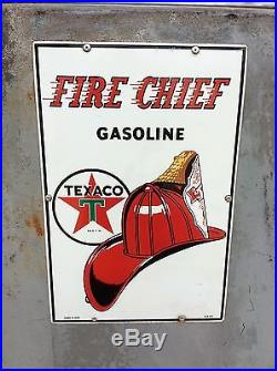 1950's TEXACO FIRE CHIEF Wayne 505 GAS PUMP with Original Signs Rustoration