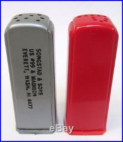 1950's TEXACO SUPREME Everett WA matched GAS PUMP salt & pepper shakers set