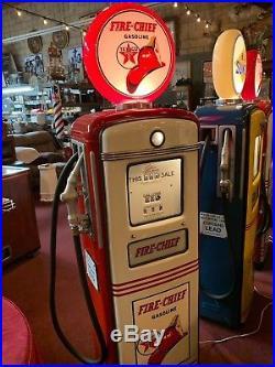 1950's Texaco FIRE-CHIEF Gilbarco R7586X Gas Pump Watch Video