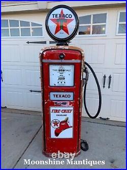 1950s TEXACO FIRE CHIEF Gasoline Gilbarco Gas Pump Rustoration