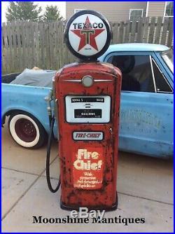 1950s TEXACO Fire Chief Bennett Gas Pump Rustoration