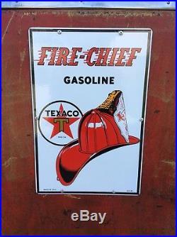 1950s TEXACO Fire Chief Wayne GAS PUMP Patina Rustoration Mancave