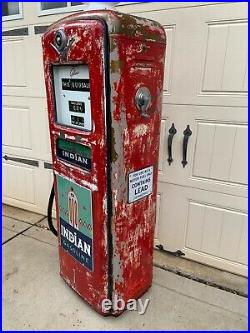 1950s TEXACO INDIAN GASOLINE Gilbarco Gas Pump Rustoration