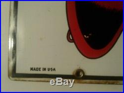 1965 TEXACO Fire Chief Porcelain Vintage Pump Plate Gas Station Sign Antique