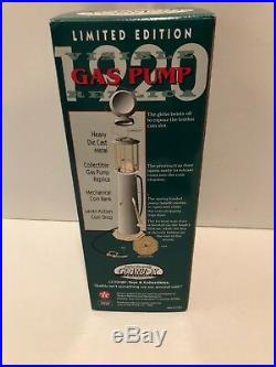 1996 Limited Edition Texaco Wayne Mechanical 1920 Coin Bank Gas Pump Replica