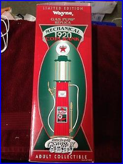 1997 Limited Edition Texaco Wayne Mechanical 1920 Coin Bank Gas Pump Replica