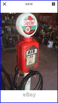 2Texaco Gas Pumps Eco Airmeter Tire And Trash Can Complete Set CAN SHIP