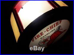 42 Texaco Fire Chief Gas Pump Cabinet with light. Man Cave/Gameroom Decor