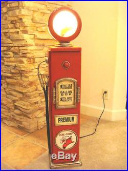 42 Texaco Fire Chief Gas Pump Cabinet with light. Mancave/Gameroom