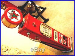 42 Texaco Sky Chief Gas Pump Cabinet with light. Mancave/Gameroom