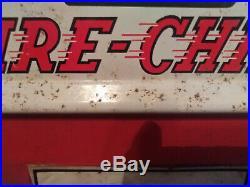 60s Rare Wolverine Texaco Fire Chief Pedal Car Gas Pump Toy Mini Metal