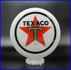 8 Milk Glass Texaco Mini Gas Pump Globe