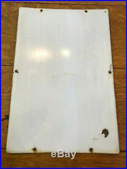 Antique 18 Texaco Fire Chief Gasoline Gas Pump Plate Porcelain Sign 3-4-47