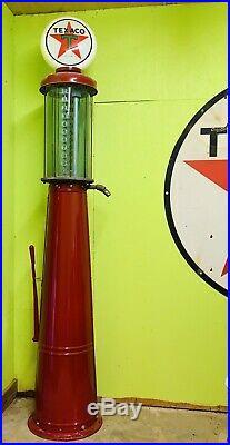 Antique Gilbert-Barker visible Texaco Gas Pump And Texaco Sign