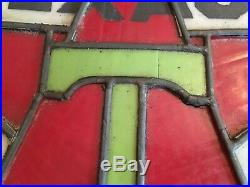 Antique Texaco Globe Gas Pump Top Stained Glass Lead 1910-1920