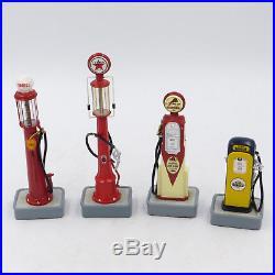 DANBURY MINT Lot of 4 Classic American Gas Pump Die Cast Texaco Shell Gilmore