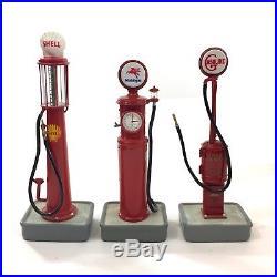 Danbury Mint Lot Of 10 Classic Gas Pump 1/24 Mini Models Shell Texaco Gilmore