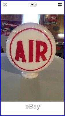 Eco Airmeter Texaco Mini Globe Milk Glass 9 Globe 3 Base Gas Pump