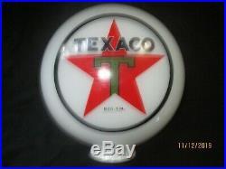 Eco Airmeter Texaco Mini Globe Milk Glass 9 Globe 3 Base Gas Pump Damaged