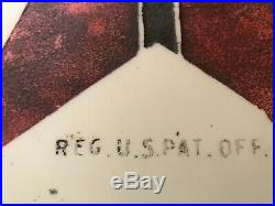 Extremely Rare Etched Milk glass Chimney Texaco Gas Pump Globe Original Paint
