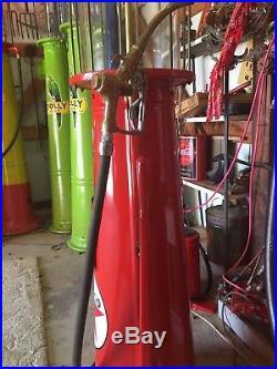 Fish AQUARIUM Texaco Visible Type Gravity Flow 10 Gallon Gas Pump functional