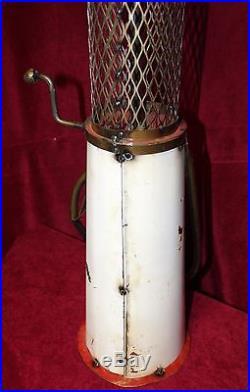 Folk Art Tin Gas Pump Display Texaco