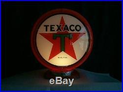 Gas pump globe TEXACO reproduction 2 GLASS LENSES