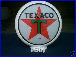 Gas pump globe TEXACO reproduction 2 GLASS LENS