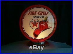 Gas pump globe Texaco Fire Chief repro