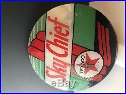 Gas pump globe lens (2)Texaco Sky Chief Black T early version set