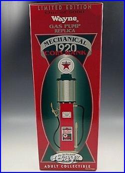 Gearbox 1920 Texaco Wayne Gas Pump Mechanical Coin Bank Die Cast Le. Of 5000 15