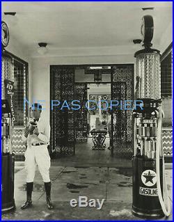 LOS ANGELES pompe essence TEXACO USA vers 1930 grande photo Californie gas pump